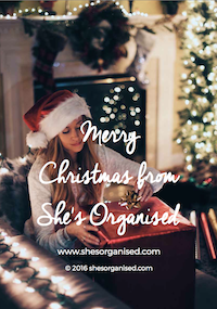 Merry Christmas from She's Organised